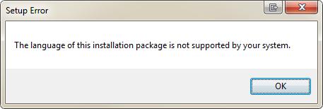 office language error