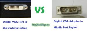 Digital VGA or DVI Connector Variation